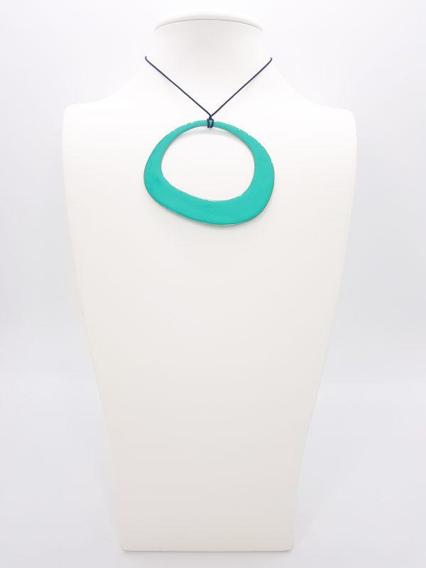 Buy Turquoise copper Enamel pendant
