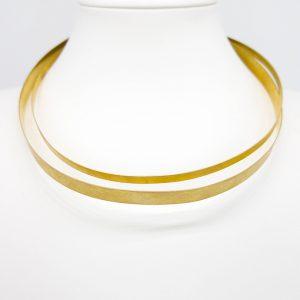 Collartz presenta el Collar de Latón Rasgado de 2 Aros