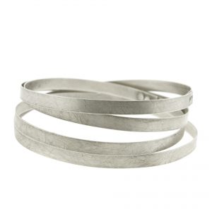 Collartz Pulsera de Plata 4 vueltas Made in Italy