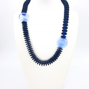 Collartz presents the Isea Blue Necklace made by Glass Fantasy