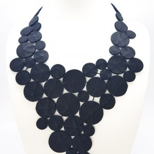 Collarts 7PM Modern Leather Greek Long Necklace.