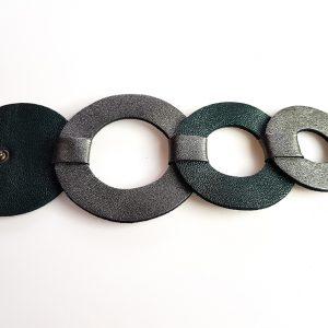 Collarts 7PM Modern Leather Greek Jewels