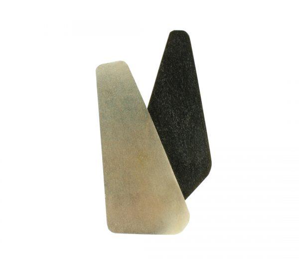 Collartz Broches Geométricos Plata y Cuerno de Búfalo