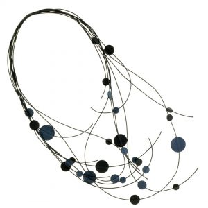 Collartz presents the Long Leather Necklace Drops of the Aegean Sea