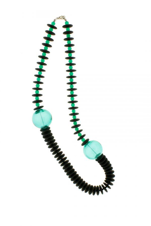 Collartz Collares de Cristal de Murano Isea Verde aguamarina