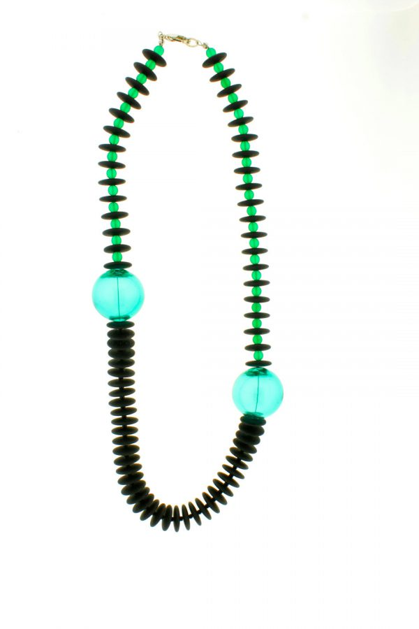 Collartz Collares de Cristal de Murano Isea Verde aguamarina Glass Fantasy