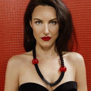 Collartz Collar de Cristal de Murano Rojo Isea Violaine