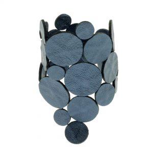 Collartz presents the Blue Leather Bracelet
