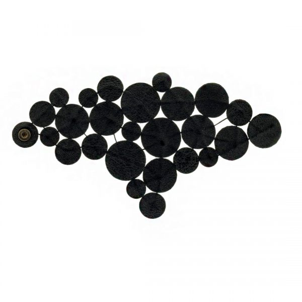 Collartz presents theSatin Black Leather Bracelet: Rhodes Sky Drops 4