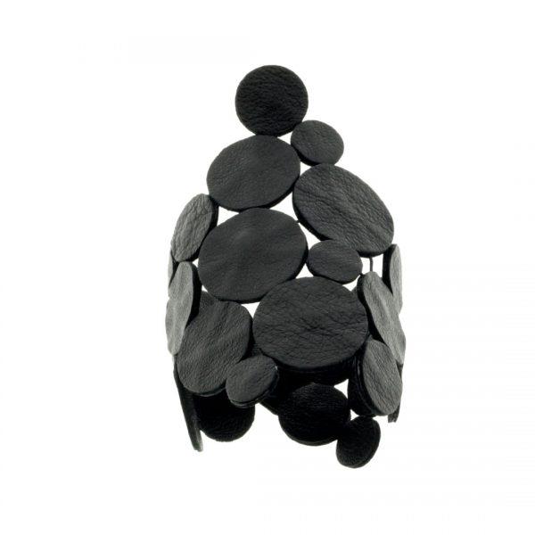 Collartz presents theSatin Black Leather Bracelet: Rhodes Sky Drops 9