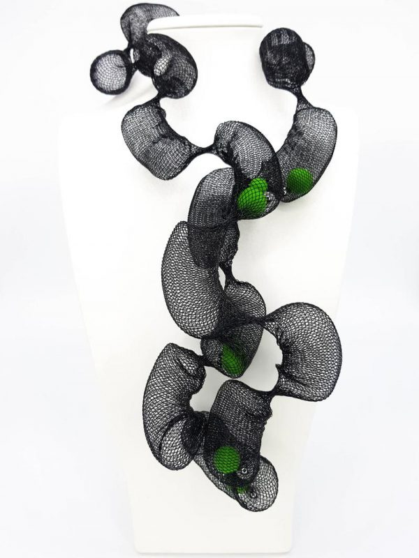 Collartz Green Net Necklace 3