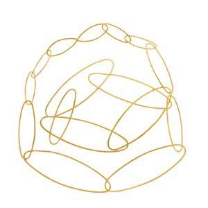 Collartz presents theCarmen Long Silver Necklace Golden Plated