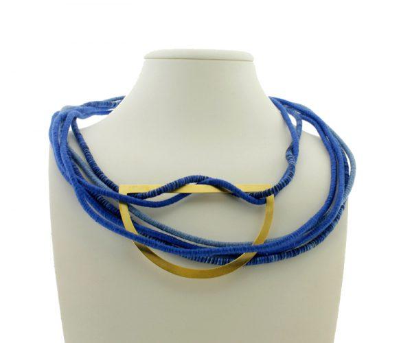 Collar de Cuerdas GEO Multicolor Azul con Medialuna 2