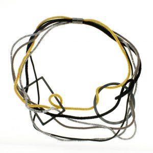 Collartz Collar de Cuerdas GEO Multicolor Tierra Círculo y Rectángulo 2