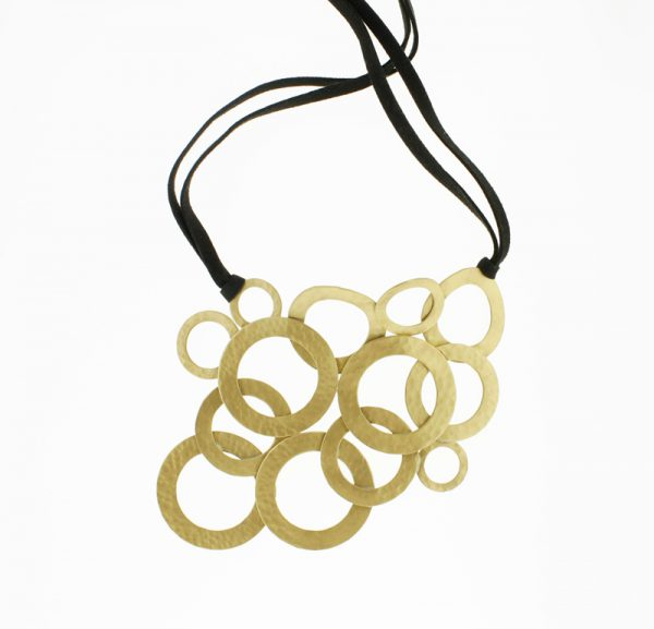 Collartz Brass Necklace made in Greece Bubbles 2