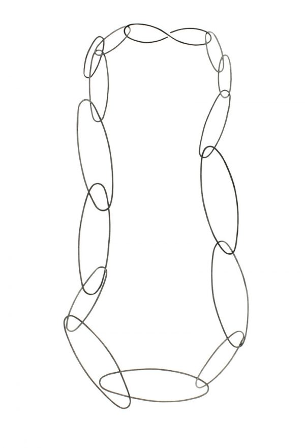 Collartz Long Oxidized Necklace 2