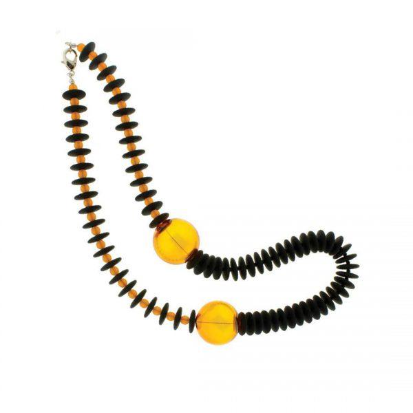 Murano Glass Necklace Isea Amber