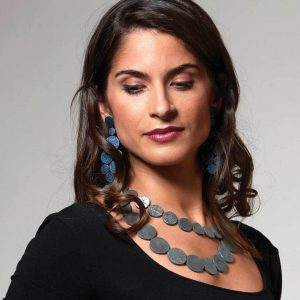 Rhodes-Satin-Blue-Leather-Earrings