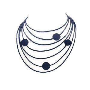 TUN Collar Caucho Lunares Pina 3