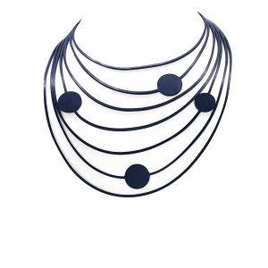 TUN Collar Caucho Lunares Pina