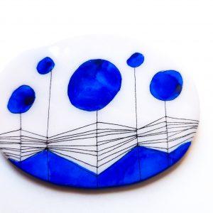 Broches de cerámica esmaltada a mano Lamai