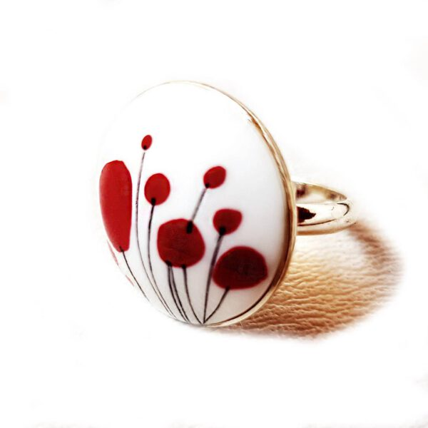 Red Poppies Ring 1