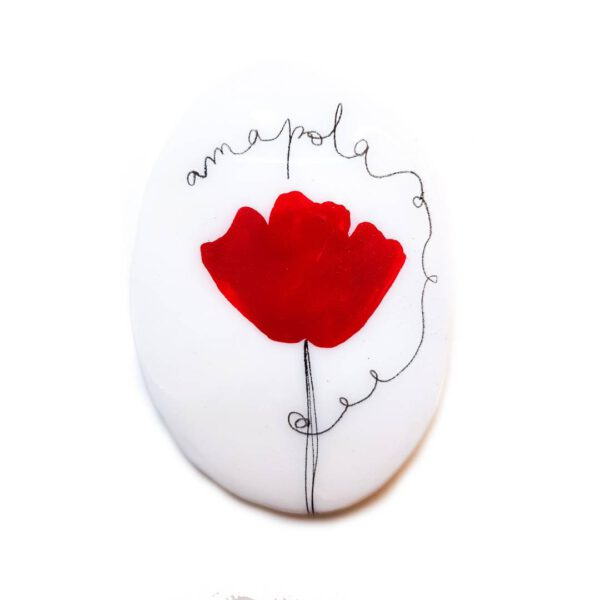 Poppies Oval Brooch 1