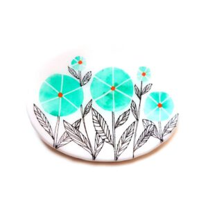 Green Issa Brooch