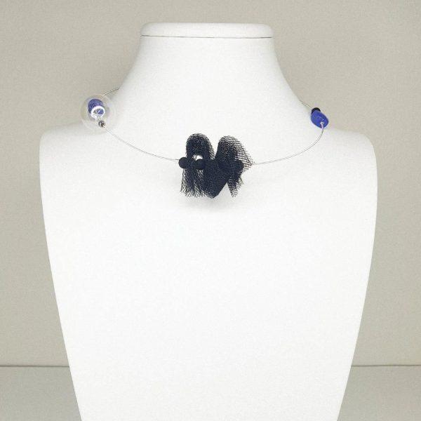 Murano-Glasso-Chokers--Murano's-Essence-Blue-Velvet