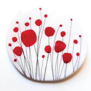 Poppies-Red-Round-Brooch