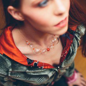Collartz presenta la Colección de Collares de Cristal de Murano Soplado, Soffio di Vento, made by Lidia Pitzalis. Aquí, Muravera.