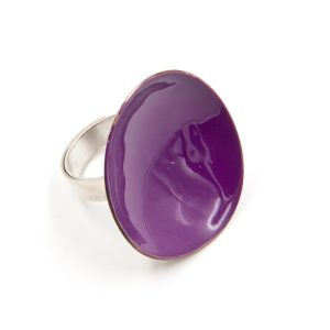 Silver Purple Ring