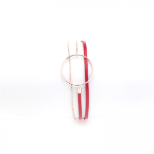 Collarts presents the Red Leather Bracelet Nolah