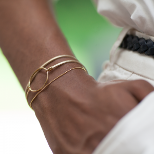 Collartz presents the Golden Leather Bracelet Nolah