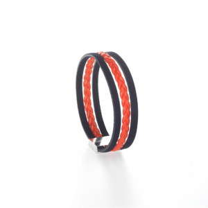 Collartz presents the Orange Leather Bracelet for Men