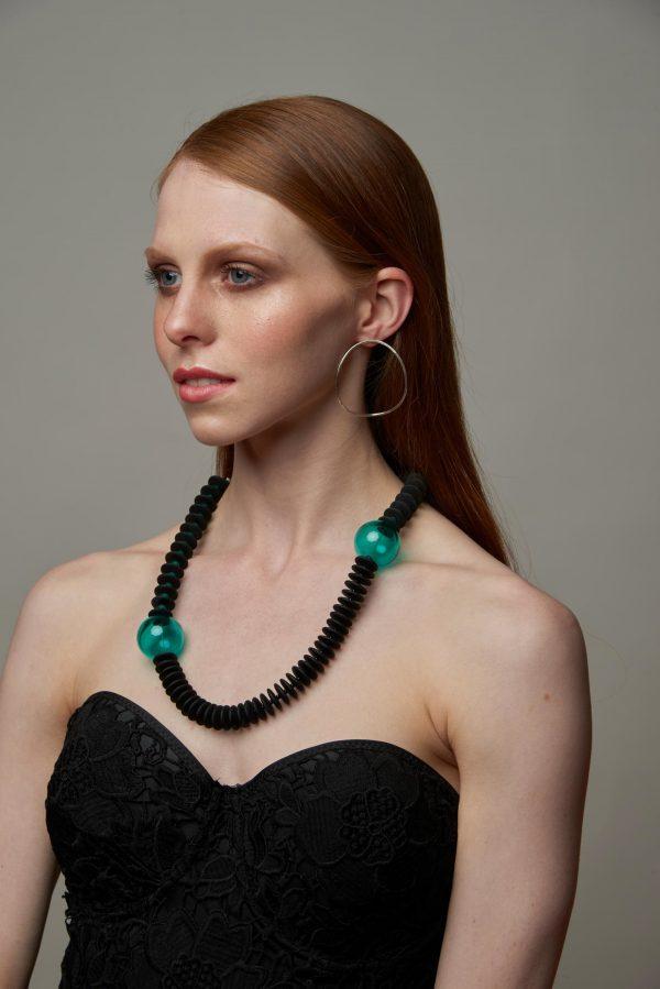 Collartz Collares de Cristal de Murano Isea Verde Samantha