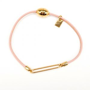 Collartz presenta la Pulsera de Piel para Niñas Rosa con Estrellas, de cuero rosa con estrellas de FlowersForZoe