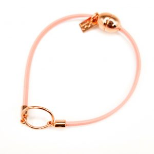 Light Pink Leather Bracelet for Girls Eleonore by FlowersForZoe