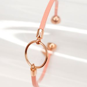 Light Pink Leather Bracelet for Girls Eleonore