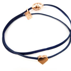 Collartz presents the Blueberries Leather Bracelet for Girls by FlowersforZoe