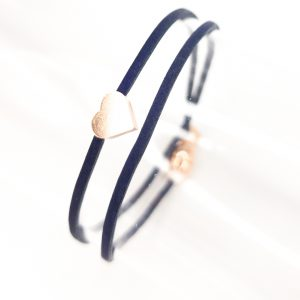 Collartz presents the Blueberries Leather Bracelet for Girls