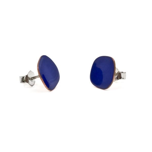 Micro Pendientes Azules de Cobre Esmaltado