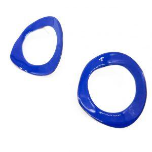 Collartz presenta los Pendientes de Aro de Cobre Esmaltado Azul