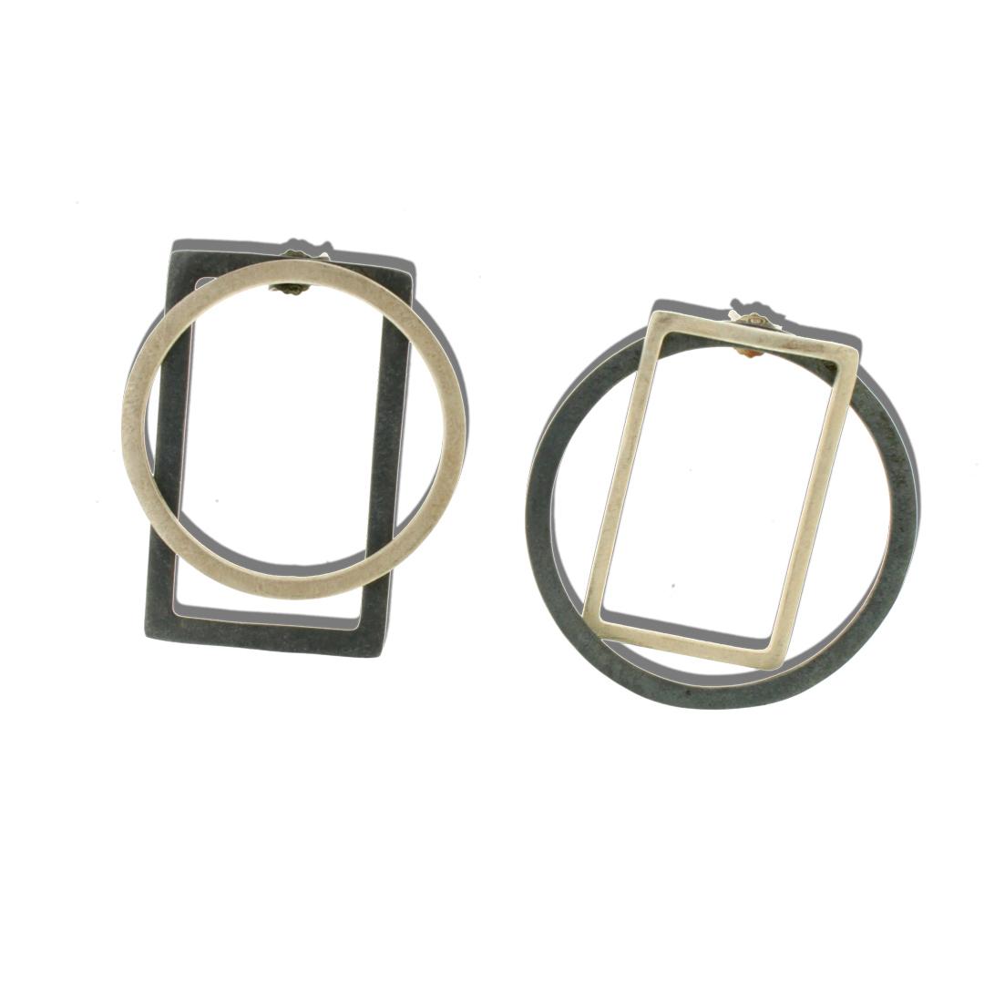 Collartz Pendientes de Plata Asimetricos