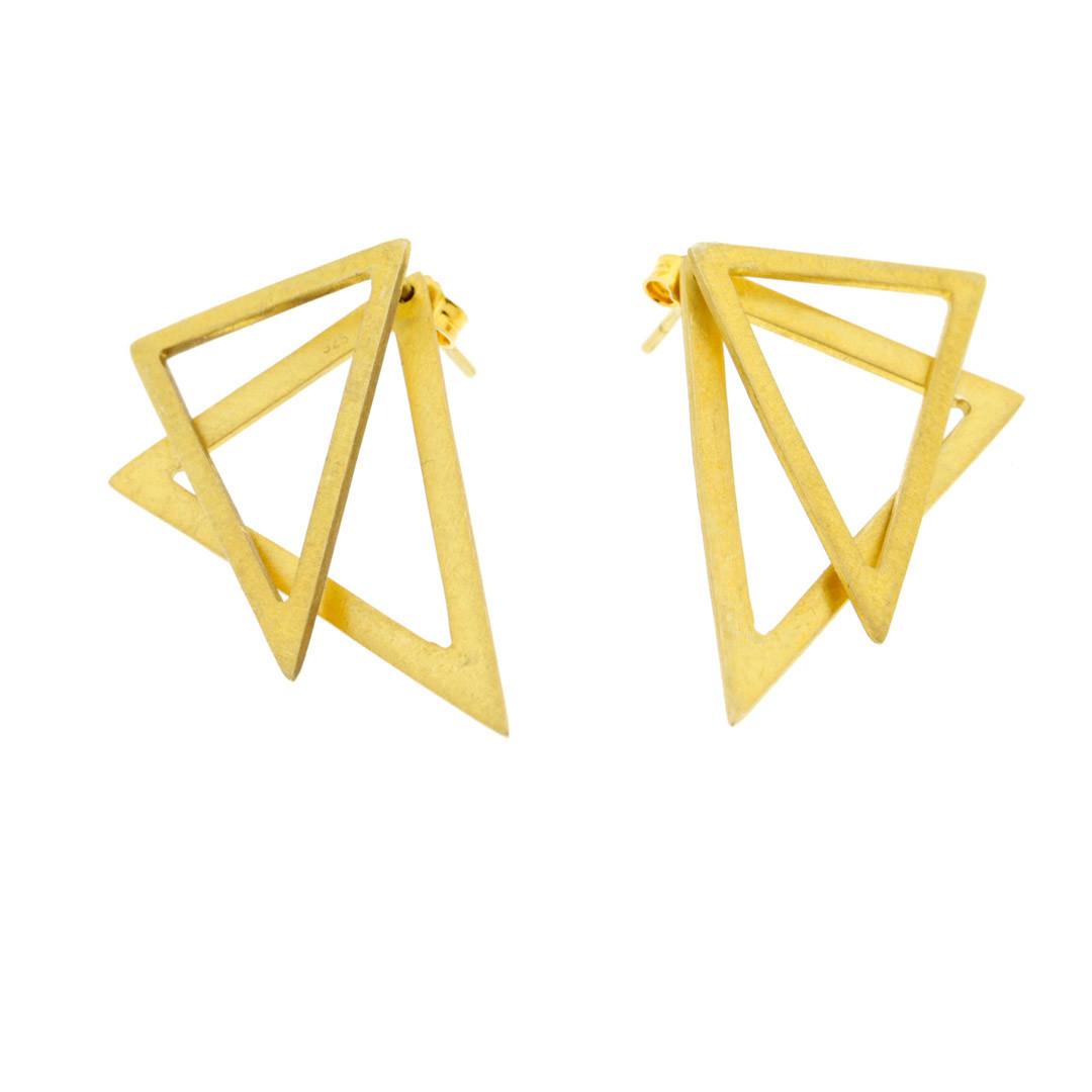 Collartz Pendientes de Plata Triangulares 2