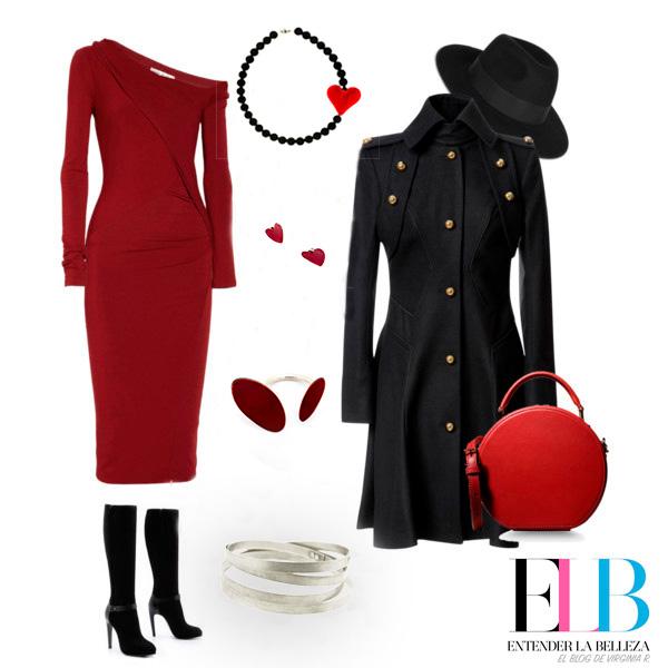 Collartz Fiestas Sostenibles Look Vestido Rojo con Lava Rossa