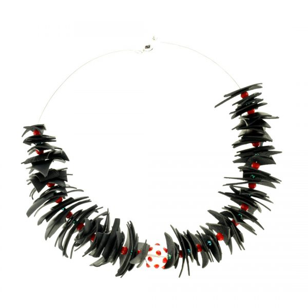 Collartz Recycled Rubber Necklace Colibri