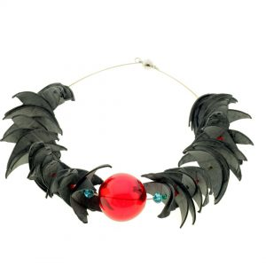 Collartz Recycled Rubber Necklace Air Kingfisher