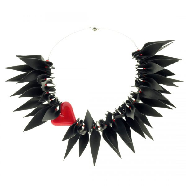 Recycled Rubber Necklace Air Love 2
