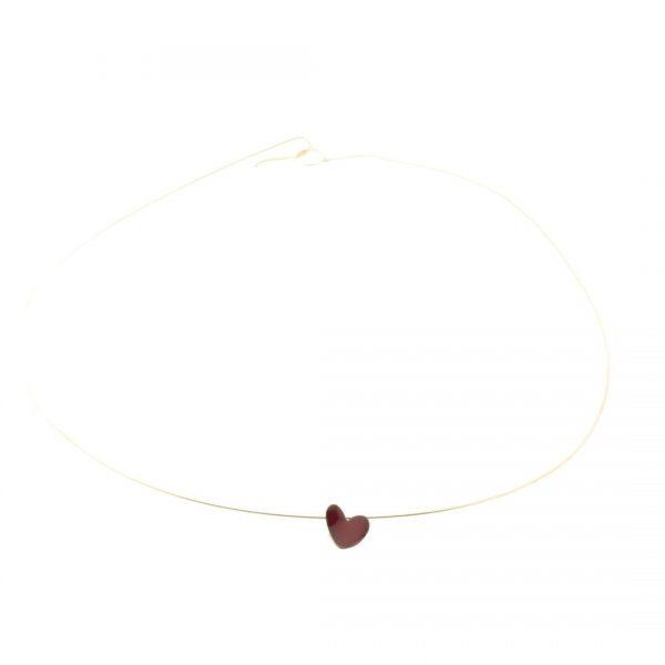Collartz MiniRed Heart Pendant Enameled Copper Cuore 3